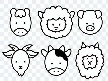 Simple animal icon set