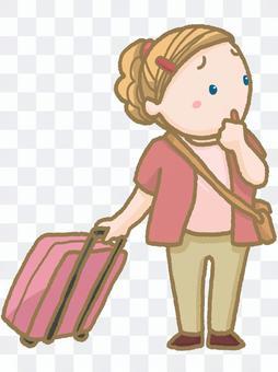 海外旅行客 女性