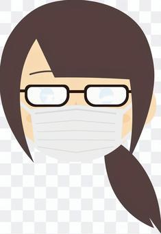 メガネが曇っている様子