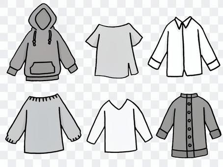 男女皆宜的設計上衣套裝