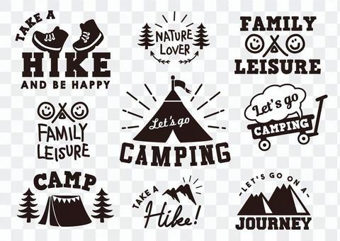 Camp logo outdoor
