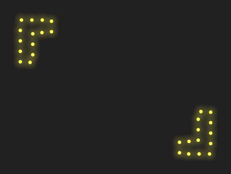 """""""燃燒支架""""照明框:黃色"""