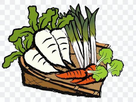日式蔬菜配蘿蔔長洋蔥粥