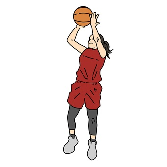 Female basketball player to shoot