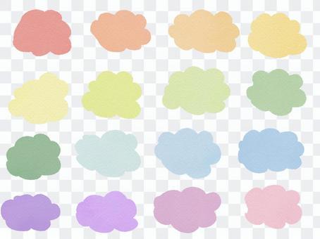 七彩雲形氣泡套