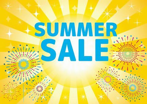 夏季大減價傳單橫幅廣告背景壁紙材料