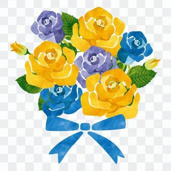 玫瑰花束/黃色/藍色/父親的日常使用