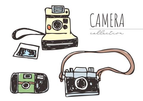 粗糙的手繪相機 3 件套