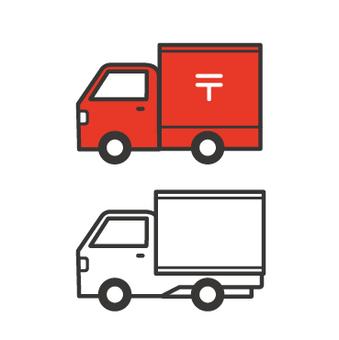 郵政卡車和卡車