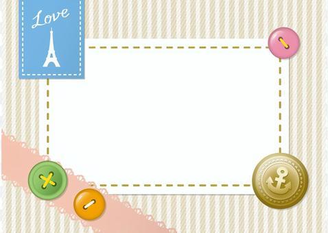 Button Eiffel tower frame