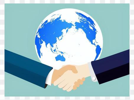 Handshake earth back