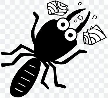Insect illustration termite
