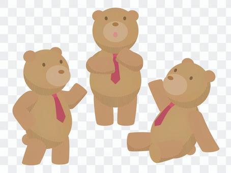 ネクタイをしたクマ