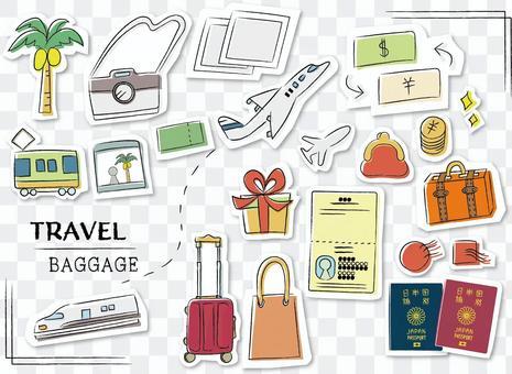 海外旅行 持ち物 キャリーバッグ シール