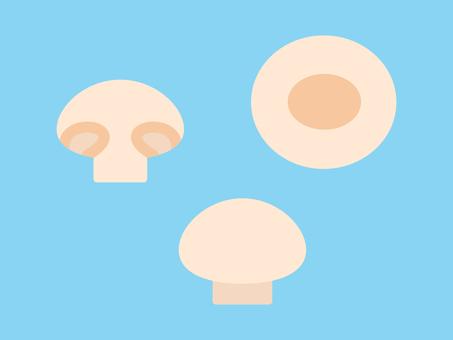 Simple and cute mushrooms