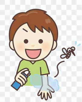 Kids boy insect repellent spray