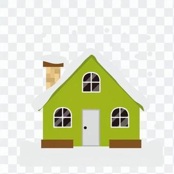 Triangular roof house