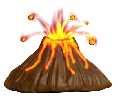 變形火山噴發CG