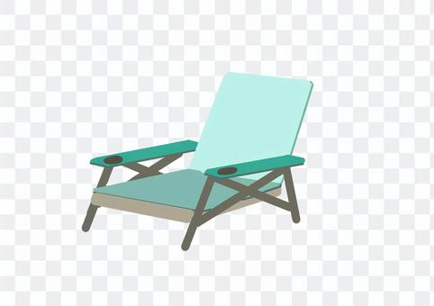 Illustration of a relaxing bench in the camp