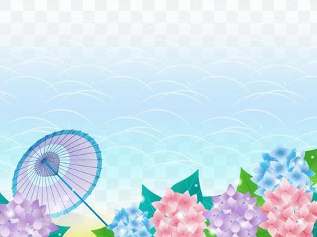 繡球花/日本傘/日式框架