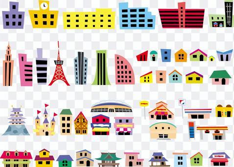 風景集各種建築物城市景觀