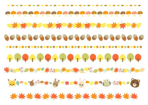 秋季格線裝飾套裝