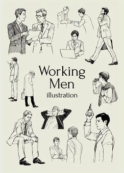 工作男性圖