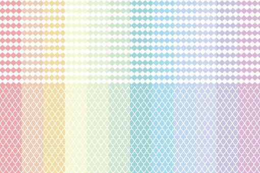 彩虹色鑲有精美的摩洛哥圖案