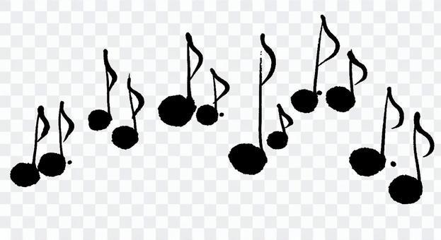 Musical note handwriting brush illustration