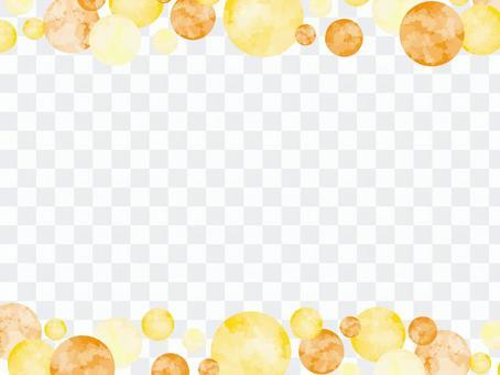 水彩風格圓點框架頂部和底部2