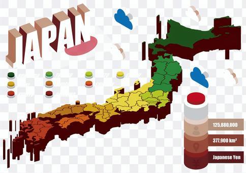 日本地図アイコンセット1