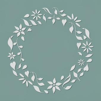 植物花圈框架