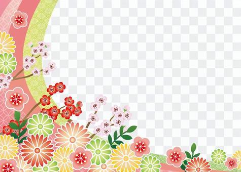 日本风格的花