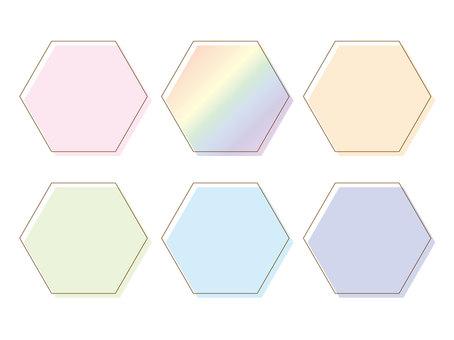 六角框(粉彩)