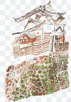 お城と石垣