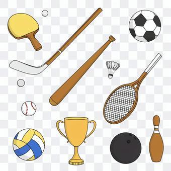 スポーツ用品イラスト