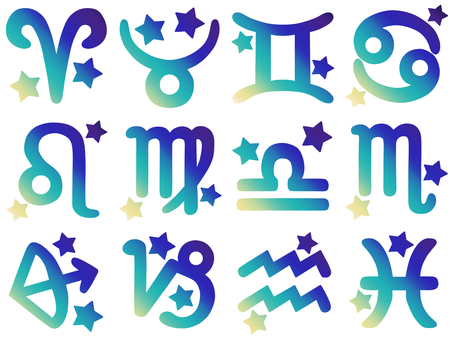 Blue gradient constellation set