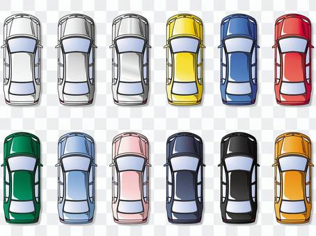 汽車的頂視圖
