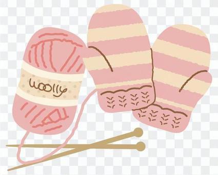 羊毛球和羊毛手套