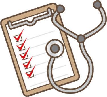 檢查表和聽診器