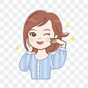 護髮女性_閃亮的頭髮