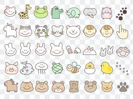 Animal smile face animal cute