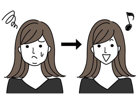 節食成功變小臉的女人