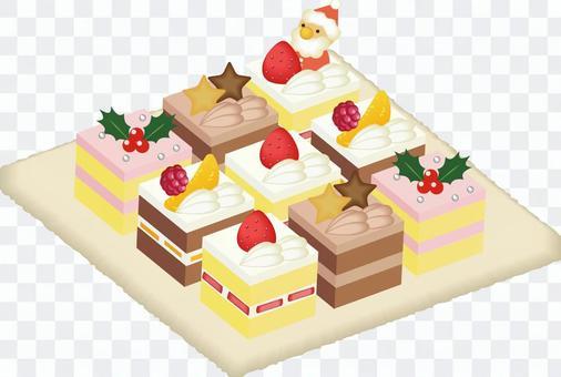 クリスマススクエアケーキ