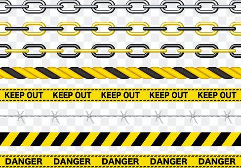 危險警告無法使用的刷子組