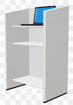 演台とノートPC