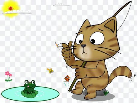 流浪貓茶老虎_釣魚_ Nyanda這嗎?