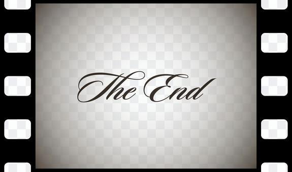 Retro movie end mark The End