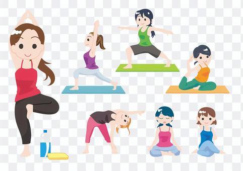 瑜伽姿勢集合