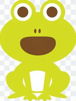 Singing frog yellow green